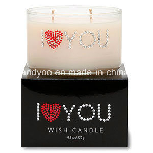 Lovely Scented Soy Wish Candle in Glass Jar