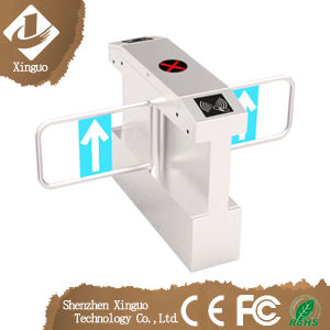 China Factory Wide Lane Automatic Swing Barrier Integrated with Card Readers pictures & photos