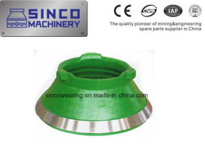 Shanbao Crusher Parts Concave and Mantle in Material Manganese