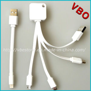 High Quality Mfi Certified 4 in 1 USB Data Charger Cable for iPhone/Samsung (AD-628) pictures & photos