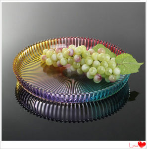 Colorful Customized Decoration Crystal Glass Fruit Bowl pictures & photos