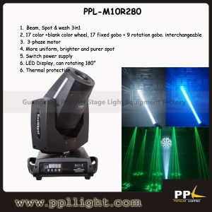 10r 280W Spot & Beam 3in1 Moving Head Light