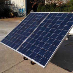 Mobile Solar Module Battery Supply for Home Appliance
