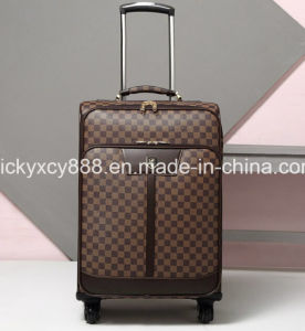 PU Leather Men Wheeled Trolley Business Travel Luggage Bag (CY3569) pictures & photos