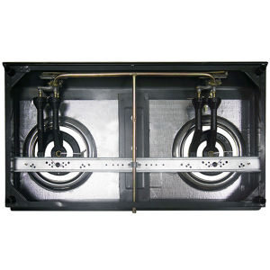 100X100mm Cast Iron Burner, Black Colors Gas Cooker Jp-Gc200 pictures & photos