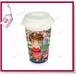 Sublimation Starbucks Ceramic Coffee Mug with Lid pictures & photos