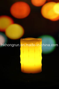 Real Wax Candle in Melt, Even, Dripping, Square Shape (HR32)