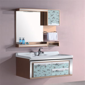 Whole Pvc Commercial Bathroom Vanity Units With Side Cabinet