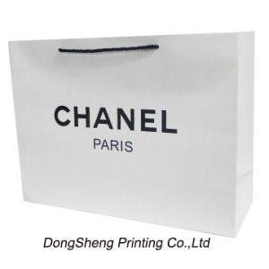White Art Paper Board Gift Shopping Bag for Apparel