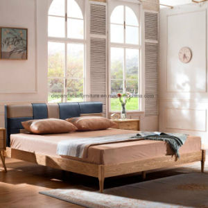 Nordic Home Bedroom Furniture Sets Leather Wood Italian Bed Frame