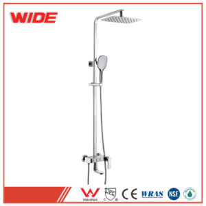 Shower Faucets Bathtub Faucets Brass Luxury Chrome Silver Shower Faucet Set Ceramic Handle Handheld Rain Shower Head Faucet Mixer Tap Relieving Rheumatism And Cold Bathroom Fixtures