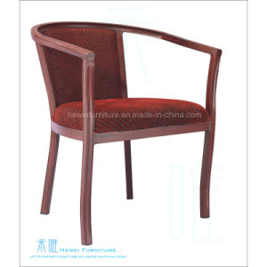 Metal Imitated-Wood Banquet Chair for Restaurant (HW-YF021C)