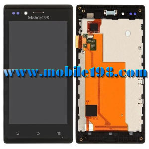 for Sony Xperia J St26I LCD and Touch Screen with Frame