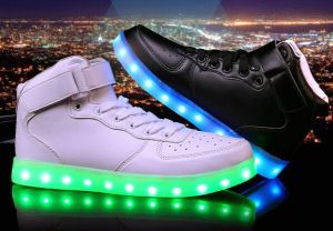 Lithium Battery USB Charging Light LED Flat Shoes(JP006) pictures & photos