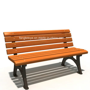 Park Bench, Picnic Table, Cast Iron Feet Wooden Bench, Park Furniture FT-Pb010