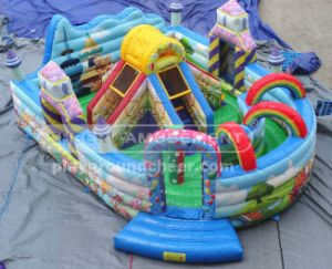 Cheer Amusement Rainbow Inflatable Bouncy Castle with Ce, TUV