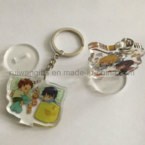 China Custom Acrylic 3D Printed Keychain for Promotional