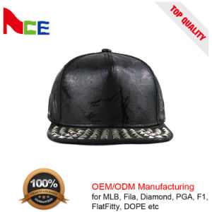 7cefc8a23d6 China Hot Selling 5 Panel Snapback Caps Blank PU Leather Hip Hop ...