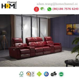 China New Design Modern Living Room Genuine Leather Recliner Sofa