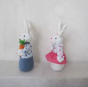 Easter Decoration Boy and Girl Bunny Craft pictures & photos