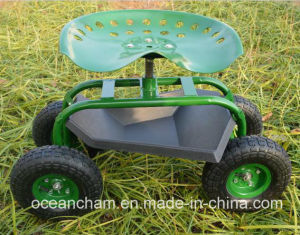 Rolling Steerable Garden Seat Cart