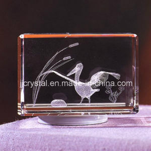 3D Inner Laser Engraved Crystal Glass Office Decoration pictures & photos