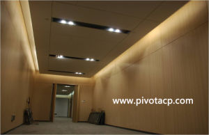 Wooden Face Aluminum Composite Panel for Interior Decoration Replace Wood
