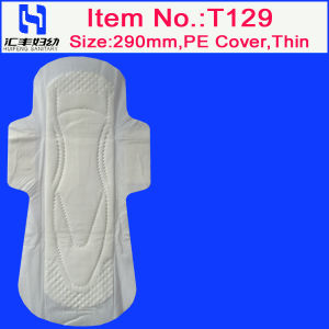 Thin 290mm Lady Napkin with PE Cover (T129) pictures & photos