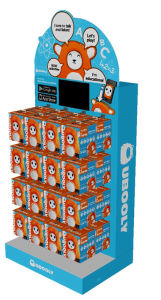 Cardboard Display with Video Screen pictures & photos