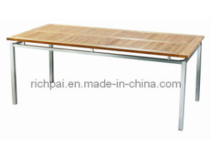 Outdoor Furniture-Stainless Steel and Teak Table (RTT003)