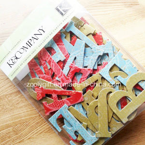 3D Handmade Die-Cut Alphabet / Letter Glitter Carton Paper Craft Stickers pictures & photos