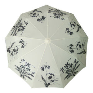 Good Quality 3fold OEM Umbrella, Made of Pongee Fabric with Logos, Various Logos Available (BR-FU-149) pictures & photos