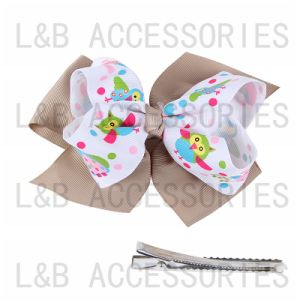 Colorful Owl Painter Ribbon New Fashion Bow