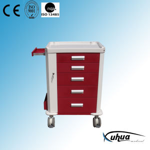 Multifunction Hospital Medical Emergency Cart (P-28) pictures & photos