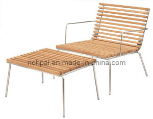 Outdoor / Garden Furniture - Teak Chair and Side Table (RCT039+RPT014)