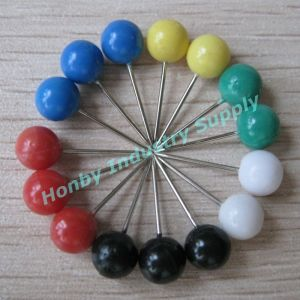 Wholesale 6mmx17mm Assorted Colored Rond Head Thumb Pin