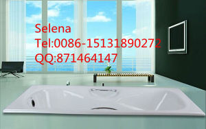 Buit-in Enamel Cast Iron Bathtub with Handrail Sw-015