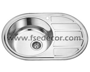 China Cupc Oval Stainless Steel Kitchen Wash Basin Sink Oval Single Bowl Stainless  Steel Kitchen Sink With Board (FSE SS 7750AL)   China Kitchen Sink, ...