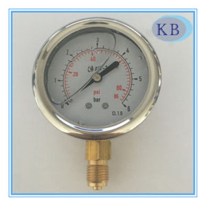 "2.5"" S. Steel Manometer Oil Filled Best Qualitity pictures & photos"