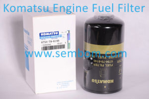 High Performance Engine Fuel Filter for Komatsu Excavator/Loader/Bulldozer