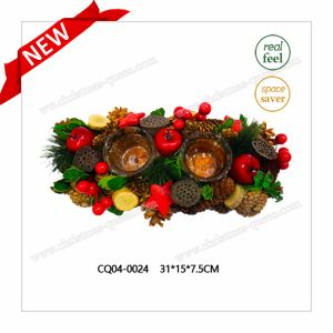 New Design Christmas Pine and Cherry Candle Holder Wreath Jewelry