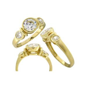Ring Made in China for Woman with CZ Stone