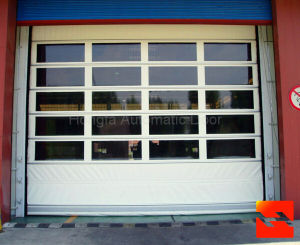PVC Fabric Fast Stacking Garage Door (HF-1016) pictures & photos