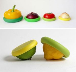 New Hot Food Huggers Silicone Fruit Fresh Wrap Storage Cover pictures & photos