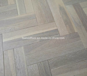 China Cement Grey Engineered Oak Double Heringbone Parquet Floor