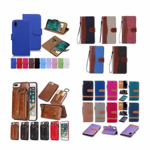 Mobile Phone Cases Removable Wallet PU Leather Case for iPhone X 8 7 6 Plus Samsung Note 8 S7 S8 Edge pictures & photos