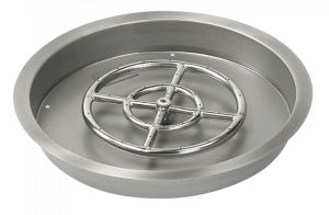 "24"" Round Stainless Steel Drop in Fire Pit Pan pictures & photos"