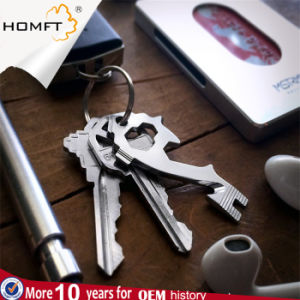 EDC 20in1 Stainless Steel Multi Keytool Keychain Pocket Box Opener Wrench Cutter