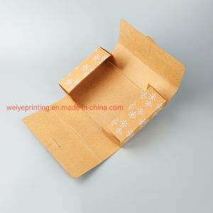 Recycle Brown Kraft Paper Printing Fold Packaging Mailer Box