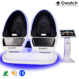 5880ad77254 Hot Selling Egg Shape 9d Vr Cinema Virtual Reality Business 2 Seat Video Game  Simulator 9DVR